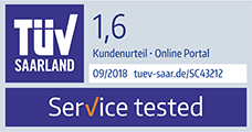 TÜV Saarland Service Tested Note 1,6