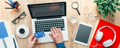 Online Shopping mit Kartenzahlung