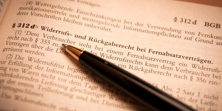 Widerrufsrecht Fernabsatzvertrag