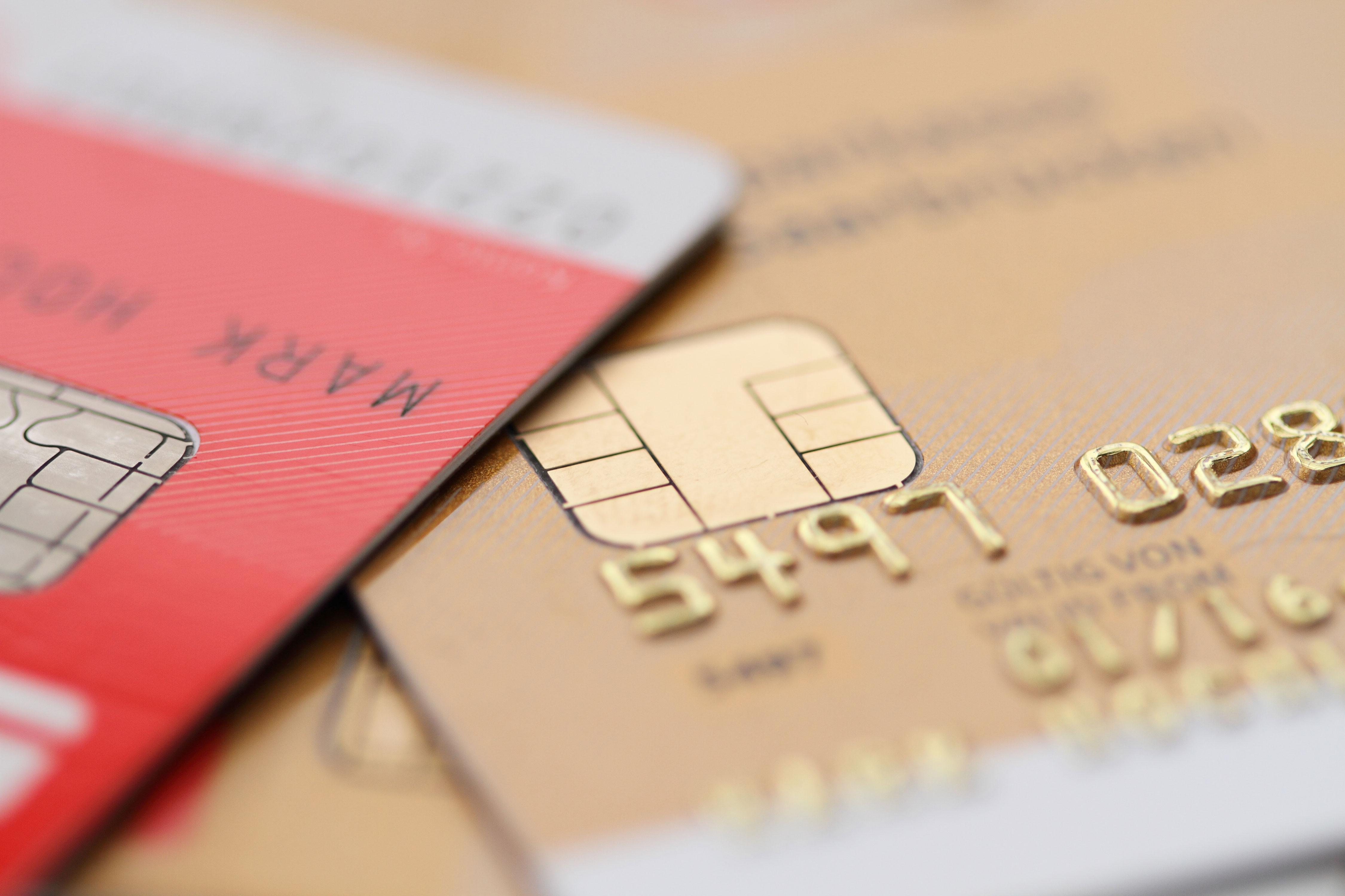 Gestapelte Kreditkarten