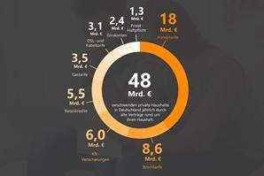 Infografik-Geldverschwendungsreport