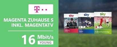 Teaser Magenta Zuhause S YOUNG Sky-Telekom Aktion